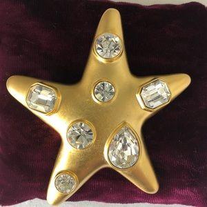KENNETH JAY LANE Gold-tone Rhinestone Star Brooch